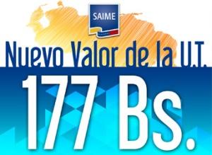 unidad tributaria 2016 177 Bs