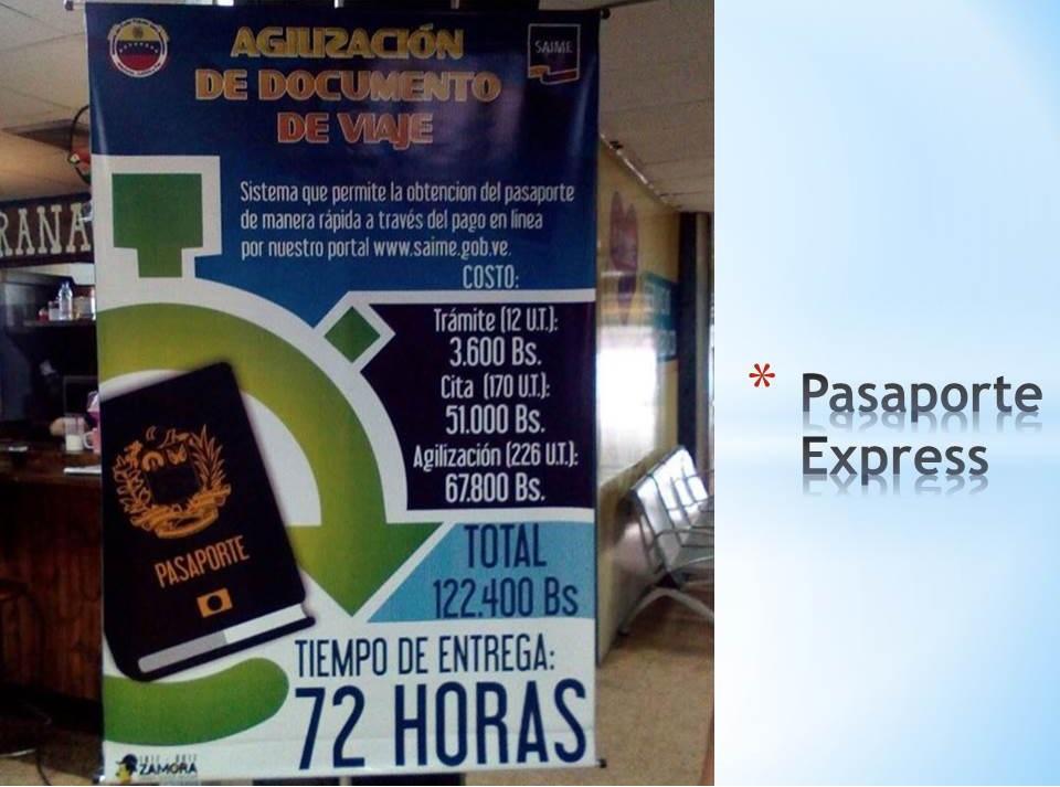 Pasaporte Express en Venezuela
